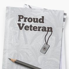 'Proud Veteran - army hero' Sticker by RIVEofficial Transparent Stickers, Custom Design, Finding Yourself, Army, Trends, Tags, Accessories, Shopping, Style