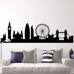 Get quality Custom Stickers and Wall Stickers Printing at StickerZone. Make your own custom wall stickers, Labels, and Wall Decals at cheapest rates. Wall Decals Uk, Custom Wall Stickers, Wall Murals, Instagram Decal, London Silhouette, London Skyline, Rest Of The World, Cool Walls, Indoor