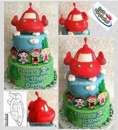Little Einsteins Birthday Cake Edible Red Rocket