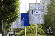 Identity for Porto | Portugal Blue Tile Inspired Colour Pattern Branding Design…