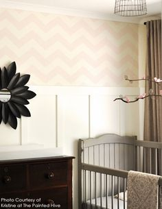 Medium Chevron, Stencil: Reusable, Wall Stencil, decorative wall stencils, wall stencils, wall decor, Moroccan Stencil, chevron stencil. $25.00, via Etsy.