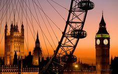 Golden Sunset, London, England