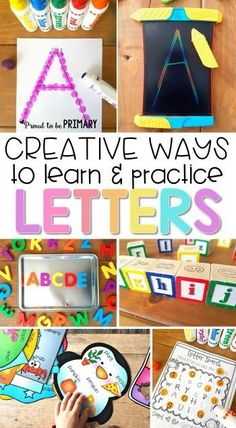 Preschool and kindergarten children will enjoy these fun, creative ways to learn and practice the alphabet. The literacy activities include letter songs, games, books, tracing, crafts, and FREE printable resources to build letter identification and phonet