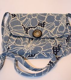 Crossover Bag Purse The Ava Crossover Bag  Blue by SNGInspirations
