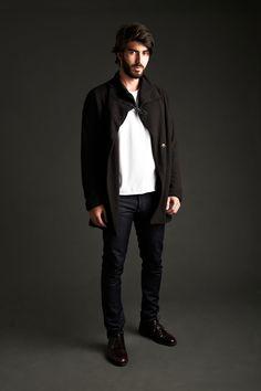 Ready to / Coat for him   Pocket T-Shirt   Skinny Jean
