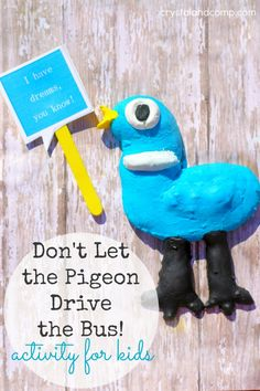 Don't Let the Pigeon Drive the Bus Activity Ideas for Kids with printable from @crystalandcomp