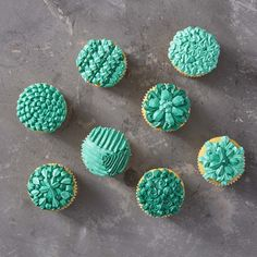 """Looking for some fun and unique ways to decorate your cupcakes?  Try creating some fun designs using specialty decorating tip 83.  Commonly used to pipe little """"X"""" shapes, this decorating tip can also be used to pipe everything from shells to zig-zags.  Up your cupcake decorating game with these eight fun and clever ways to use decorating tip 83!"""