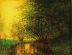 Mednyánszky László: 1852 - 1919: By the riverside: 96,5×125 cm: oil on canvas: signed lower right: Mednyánszky: