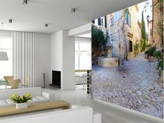 French Village wall mural living room preview