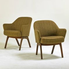 Fun chairs!  They actually look really comfortable. ADRIAN PERSALL; CRAFT ASSOCIATES : Lot 1314