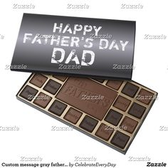 Custom message gray father's day chocolate candy