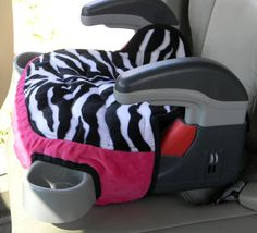 """Graco Turbo Booster seat covers are quilted with 1"""" batting to make the cover padded and    durable and in colors and prints that will encourage your child to stay seated.    The booster seat cover has elastic loops to hook on to the bottom of booster seat.    Wash in warm water and dry on low heat setting    Created in a smoke free home    Other colors and prints are available on request, please allow10-14 days for construction and shipping.    #boosterseat #zebra #caraccessory #children…"""