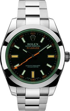 Rolex Milgaus w/ Limited Edition Green Sapphire Crystal