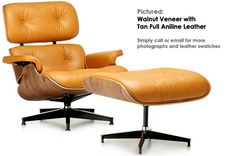 Eames Lounge chair in a range of brown aniline leathers. Via iconicinteriors.com
