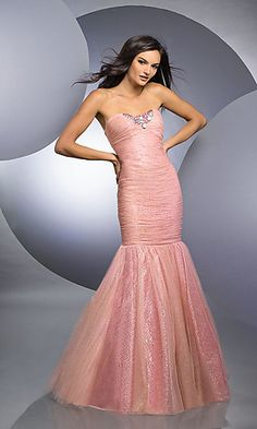 BJ-59224-BJV : Strapless Mermaid Style Dress