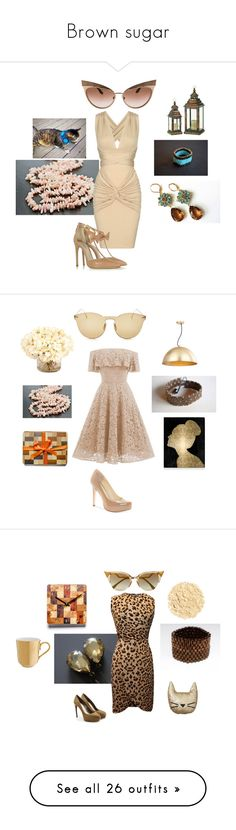 """""""Brown sugar"""" by mariellascode ❤ liked on Polyvore featuring Olgana, Dolce&Gabbana, modern, designsbypolina, ArtistInJewelry, mariellascode, beadsgemsflowers, Jessica Simpson, Safavieh and Oliver Gal Artist Co."""