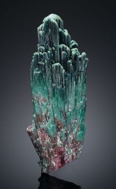 Tourmaline. Sapo Mine, Ferruginha, Conselheiro Pena, Doce Valley, Minas Gerais, Brazil. 16 x 7 x 4 inches (40.6 x 17.8 x 10.2 cm). Estimate: $60,000 - $75,000. Photo Heritage Auctions