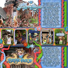 Disney Scrapbook Layout, Splashwater Falls