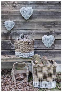 Autumn wicker basket Blanc Mariclò