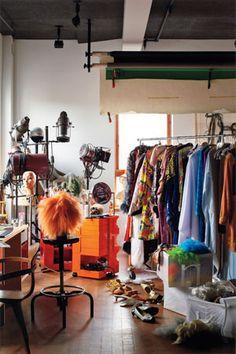 Cindy Sherman studio :Photo by Martyn Thompson