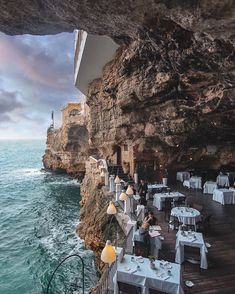 Dinner in a cave sea restaurant - Grotta Palazzese, Polignano a Mare, Italy. - interestingasfuck World Photography, Travel Photography, Photography Training, Canon Photography, Dream Vacations, Vacation Trips, Vacation Travel, Hawaii Travel, Beautiful Places To Travel