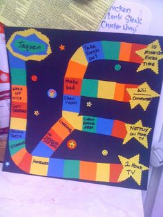 Reward board game... we'd change up the reward stars, but this is pretty good