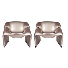 pewter chairs - pierre paulin - circa 1960's