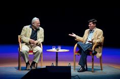 Stephen Sondheim speaking to Michael Kerker at Segerstrom Center for the Arts, July 13, 2012.