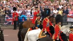 Prince Charles, Prince William and Princess Anne Trooping the Colour 2016