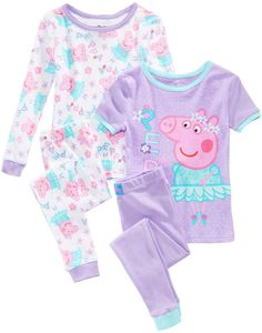 Character Print Size 4T Peppa Pig Toddler Girls 2 Piece Set