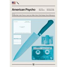 A Print inspired by American Psycho, the 2000 film by Mary Harron, based on the Novel by Bret Easton Ellis Size: x Hi-Gloss giclee print. worldwide Postage and packaging included in price (this is unofficial fan artwork) Minimal Movie Posters, Cool Posters, Film Posters, Horror Posters, Cinema Posters, Love Movie, Movie Tv, Crazy Movie, American Psycho Poster