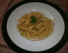 A delicious spring pasta: Bronte's pistaches pesto & speck