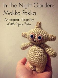 """This is a free written pattern of my own original design for Makka Pakka (character from the BBC kids show """"In the Night Garden""""). Crochet Panda, Crochet Baby, Free Crochet, Amigurumi Patterns, Knitting Patterns, Crochet Patterns, Doll Patterns, Crochet Stitches, Embroidery Patterns"""