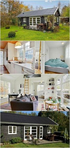 65 cute tiny house ideas & organization tips. I Love How This One Seems to Have So Much Space! #tiny #tinyhouse #tinyhome #tinyhomeideas #tinyhousemovement #tinyhouseliving