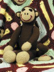 Make this soft plush monkey for a new baby; perfect for a baby shower gift.