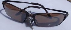 Awesome Wrap Style Sunglasses Brown Tint Lens Copper Frame