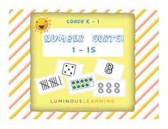 Grades K - 1 Number Sorting Activity School License