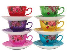 colorful french cups-been wanting me some of these.