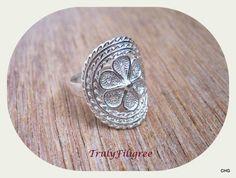Handmade Sterling Silver Ring   Filigree Ring by TrulyFiligree