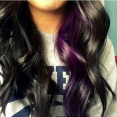 Doing my hair like this only with a red-purple instead