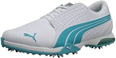PUMA Women's Biofusion WNS Golf Shoe,White/Scuba Blue,6 M US PUMA http://www.amazon.com/dp/B00IOPAR92/ref=cm_sw_r_pi_dp_S8VVvb1X525X2