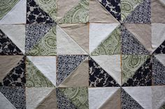 Triangle Quilt Tutorial and Quilt Binding