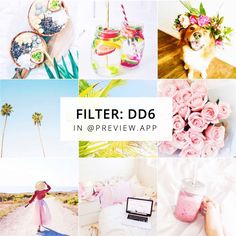 """Bright, white Instagram theme, with white filter DD6 from the """"White II"""" Filter Pack inside Preview App."""