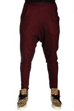 Red Mesh Nappytabs Harem Pants at Threader® Streetwear, Hip Hop Clothing, and Urban Clothing