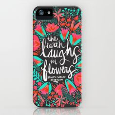 Buy The Earth Laughs in Flowers – Pink & Charcoal by Cat Coquillette as a high quality iPhone & iPod Case. Worldwide shipping available at Society6.com.…
