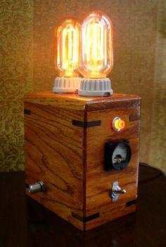 Lampe de laboratoire steampunk LI2D par kemplinr sur Etsy