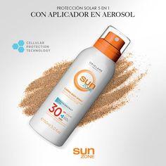 #Protección #solar para toda la familia en aerosol para rostro y cuerpo con #FPS 30, con acción 5 en 1.