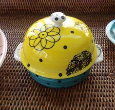 Queijeira Black Tattoo | Liliane Garmes * Casa * Decoração e * Bebe * - Porcelanas Pintadas à Mão! | Elo7