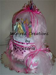 How To Make A Cinderella Diaper Cake