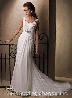 Maggie Sottero Alma - 22923 // Channel your inner greek goddess in these grecian style wedding gowns from the Wedding Shoppe, http://www.weddingshoppeinc.com #grecian #goddess #wedding